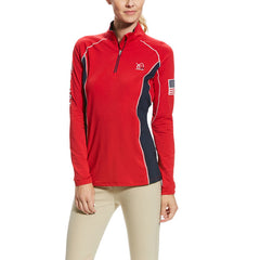 Ariat USEF Tri Factor 1/4 Zip Baselayer Top