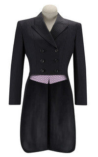 R.J. Classics Ladies Diamond Collection Shadbelly- Navy Pinstripe Clearance!