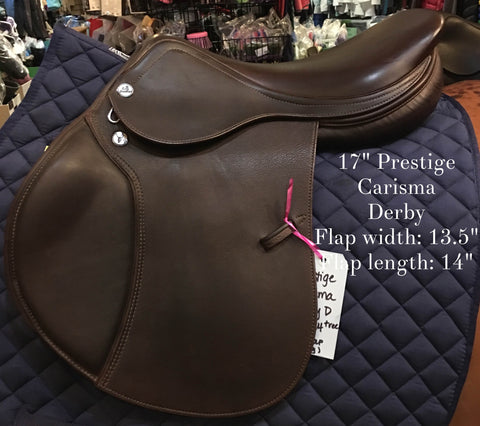 Price Reduced! Prestige Carisma Derby D.C Saddle 17""