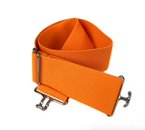 ACE Equestrian Orange + Silver Elastic Belt