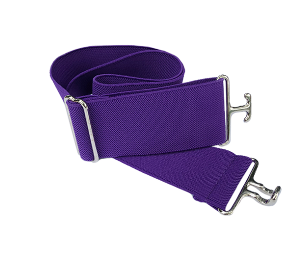 ACE Equestrian Purple + Silver Elastic Belt