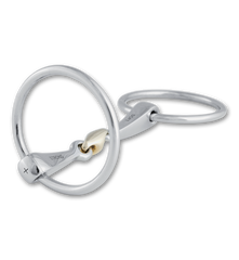 Stubben Steeltec 2 in 1 Loose Ring Snaffle Bit