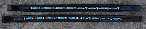 Blue Bead Browband