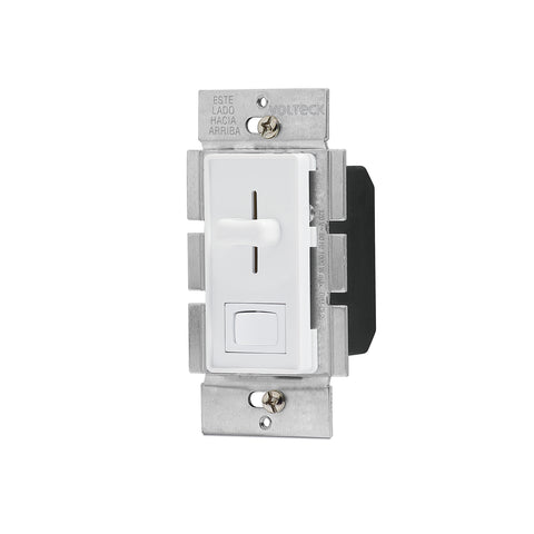 DIMMER DESLIZABLE CON INTERRUPTOR BLANCO