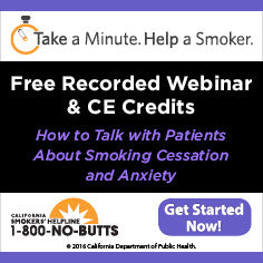 CE Course-Smoking Cessation and Anxiety