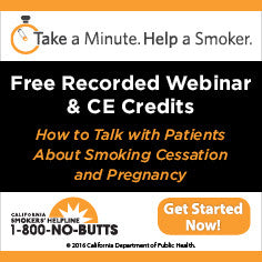 CE Course-Smoking Cessation and Pregnancy