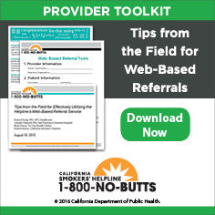Provider Toolkit-Tips From the Field for Web-Based Referrals