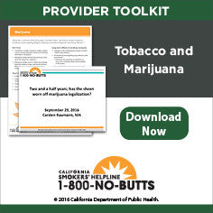 Provider Toolkit-Tobacco and Marijuana