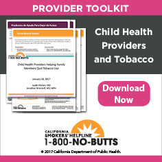 Provider Toolkit-Child Health Providers and Tobacco