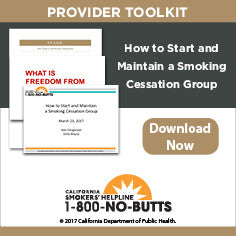 Provider Toolkit-How to Start and Maintain a Smoking Cessation Group