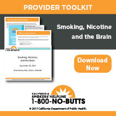 Provider Toolkit-Smoking, Nicotine and the Brain