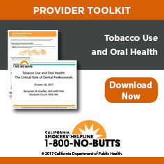 Provider Toolkit-Tobacco Use and Oral Health