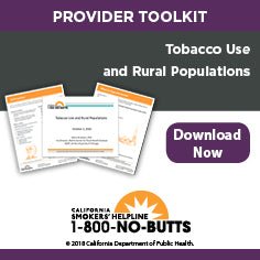 Provider Toolkit-Tobacco Use and Rural Populations