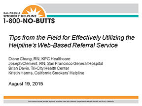 Webinar-Tips from the Field for Web-Based Referrals