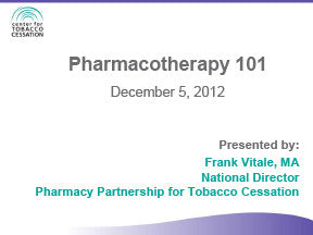 Webinar-Pharmacotherapy 101