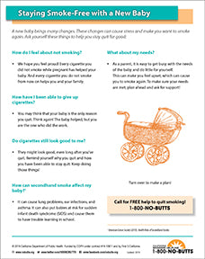 Print Fact Sheet-Staying Smoke-Free with a New Baby
