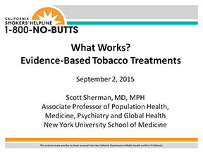 Webinar-Evidence-Based Tobacco Treatments