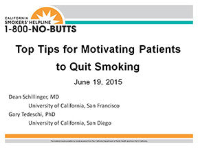 Webinar-Top Tips for Motivating Patients to Quit