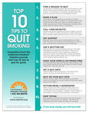 8.5 x 11 Flyer-Top 10 Tips to Quit Smoking (Download)