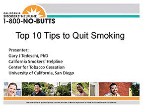 Webinar-Top 10 Tips for Quitting Smoking