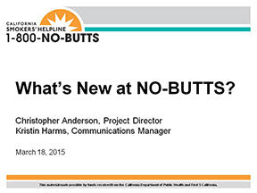 Webinar-What's New at NO-BUTTS?