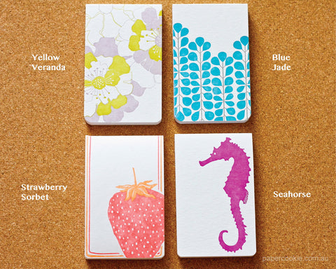 Letterpress Memo Notepads