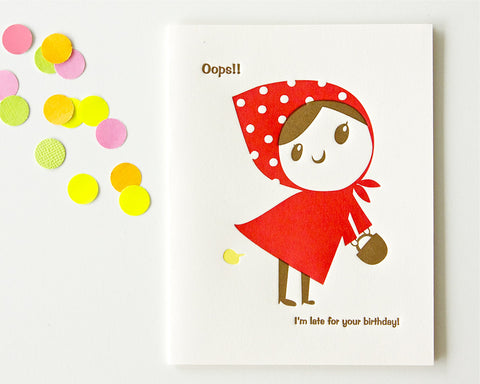 Oops! Belated Birthday Card