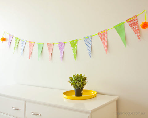 Bunting Flags - Lemon