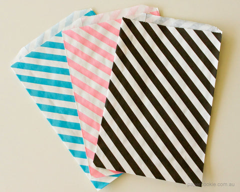 Striped Paper Bags (10 Pack)