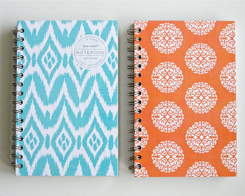 Patterned Spiral Notebooks