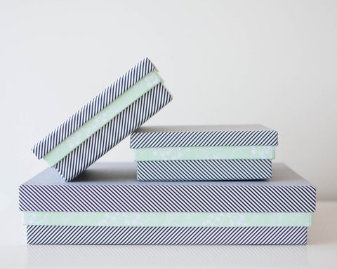Pattern Boxes - Black Stripes