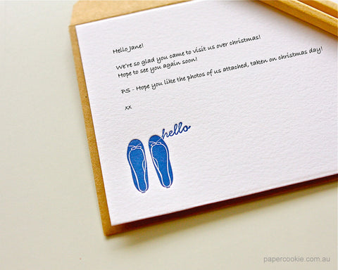 Hello Letterpress Card Set