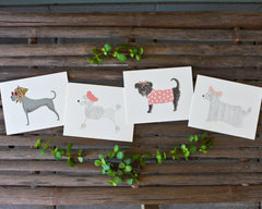Dog Card Set - Girls (8 cards)