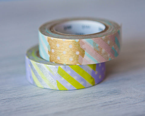 Washi Tape - Pink & Gold Patchwork