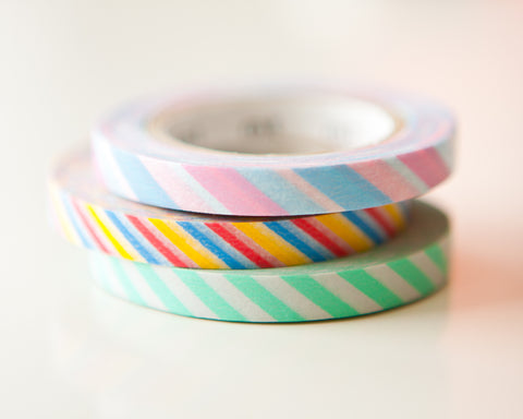 Washi Tapes - Candy Slim (3 Pack)