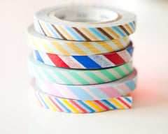 Washi Tapes - Airmail Slim (3 Pack)