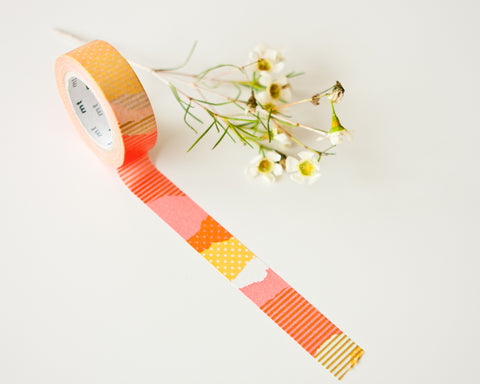 Washi Tapes - Coral Gold