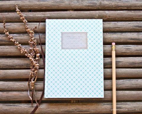 Mint Hardcover Notebook