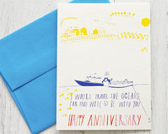 Be with you Anniversary Card