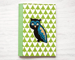 Gold Foil Owl Notebook