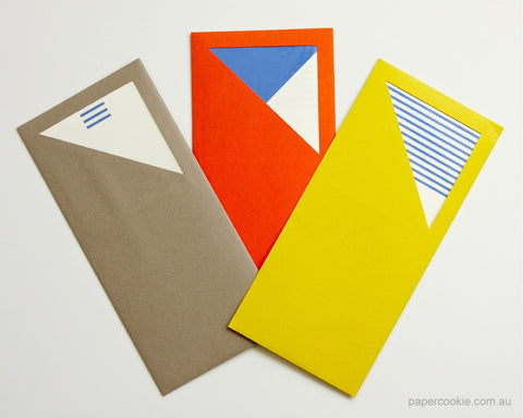 Triangle Envelope Letter/Card Set (3 Pack)