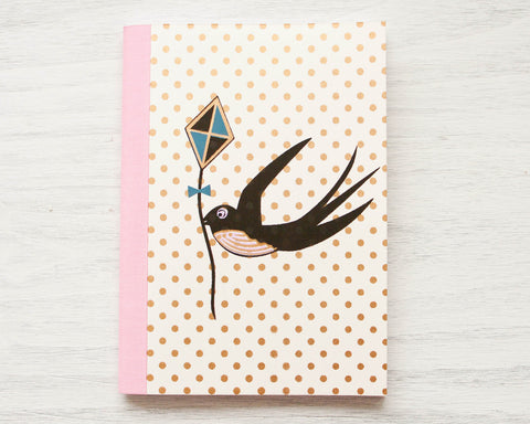 Gold Foil Bird Notebook