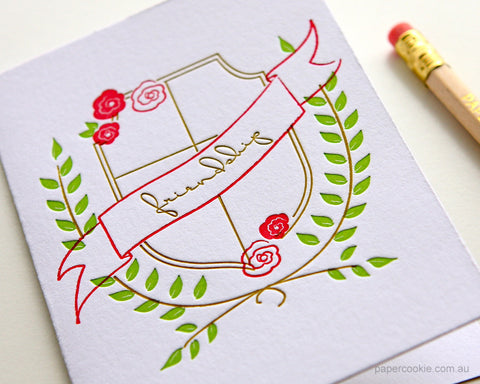 Friendship Crest Letterpress Card Set