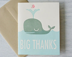 Big Whale Thanks Card