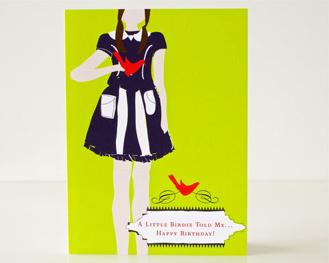 Birthday Little Birdie Card