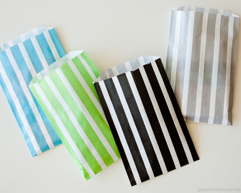 Paper Bags - Vertical Stripes