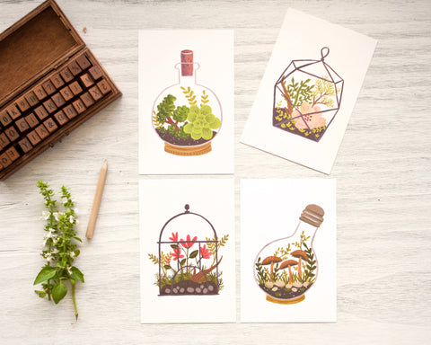 Terrarium Postcards (Set of 4)