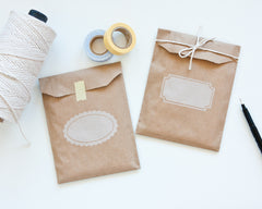 Kraft Paper Bags with Labelling Box
