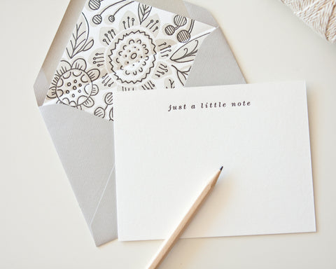 Letterpress Liner Card Set - Just a little note