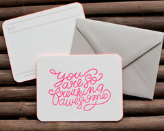 'You Are Awesome' Letterpress Set